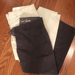2 pair J Crew Broken In Scout Chino size 4